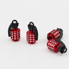 4X Red Plastic Grenade Car Motorcycle Wheel Tire Valve Stem Caps For Ferrari