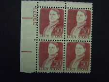 "1293a 50c Lucy Stone Plate Block ""Tagged""  MNH OG"