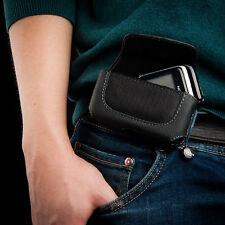 Leather Black Belt Case for Nokia 2220 Slide / 2680 Slide / 2720 Fold