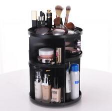 360 Degree Rotating Make Up / Cosmetic Organizer - black