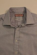 "Thomas Pink Prestige Mens Houndstooth French Cuff Long Sleeve Shirt 16""/41cm"