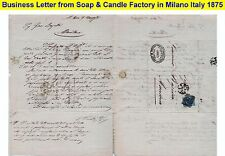ITALY 1875 VERY OLD BUSINESS LETTER with collector quality high value stamp (3)