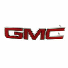 OEM Front Grille GMC Emblem Nameplate Red w/Chrome Trim 10-15 Terrain 22764298