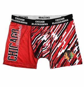 FOCO KLEW NHL Men's Chicago Blackhawks Wordmark Underwear