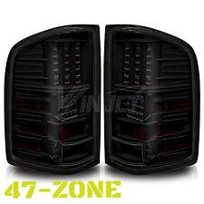 For 2007-2013 Chevrolet Silverado Black Housing Smoke Lens LED Tail Lights Lamps