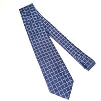 Brooks Brothers Makers Tie Necktie 100% Silk Navy Blue Geometric Made In USA