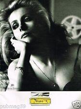Publicité advertising 1989 Parfum Catherine Deneuve par Helmut Newton