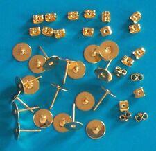 50 paia di GP 8 mm Pad Piatto Orecchino pali, incl PERGAMENE, i risultati per gioielli