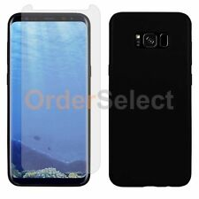 Slim Glossy Case+LCD Screen Protector for Android Samsung Galaxy S8 Plus Black