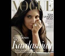 Vogue Espana SPAIN August 2015 Kim Kardashian West,Ingrid Bergman,Sean Scully