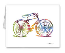 ABSTRACT BIKE Note Cards With Envelopes