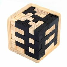 3D Wooden Puzzles Brain Teaser 54 T-shaped Blocks Geometric Intellectual JigT3M8