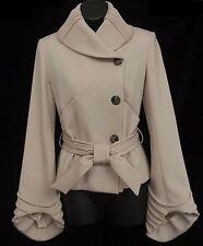 SCHERRER Boutique France Womens Blazer Jacket Beige Size 36 US 4
