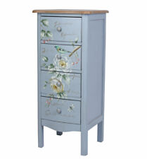 Vintage Chest Cabinet Rose Painting Bedside Table High Chest Builder Chest