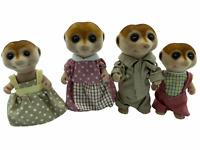 Calico Critters Meerkats Spotter Meerkat Family Sylvanian Families RARE HTF