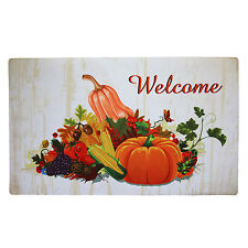 """Non-Slip Home Fashion Harvest Fall Welcome Vinyl Back Painting Doormat 29""""X17"""""""