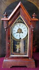 160508 Simpatico orologio a pendolo con sveglia del primo Novecento