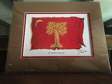 """Tom Butler Signed Print The """"Big Red"""" Flag of 1861 NWOT"""