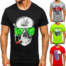 T-Shirt Tee Kurzarm Rundhals Slim Fit Print Sport Aufdruck Herren Mix BOLF Motiv