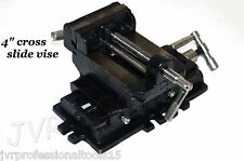 "4"" Cross Drill Press Vise Slide Metal Milling 2 Way X-Y Clamp Machine Heavy Duty"