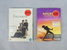 2 x DVD Bundle The Favourite And Bohemian Rhapsody Movies Films Oscar NEW Sealed