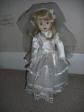 China faced bride doll- hand made clothes 1ft 3inch tall