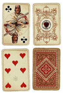 Altenburger Spielkartenfabrik 36 Blatt um 1880 - stark bespieltes Kartenspiel