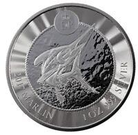 BLUE MARLIN 1 oz .999 Fine Silver Coin Cayman Islands  2017