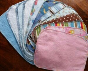 **48** Cloth Baby Wipes Washable Reusable Family Cloth Unpaper **4 Dozen**