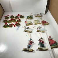 Assorted 12 Days of Christmas Ornaments Two incomplete sets
