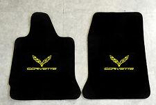 Autoteppich Fußmatten für Chevrolet Corvette C7 Coupe ab 2014 gelb Nubuk Velours