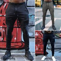 Men's Sport Pants Tracksuit Fitness Workout Joggers Gym Sweatpants Long Trousers