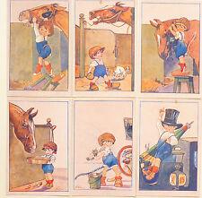 Norfini - Serie Set 6 Cards - Cavalli Horses Bambini Chldren - ST071