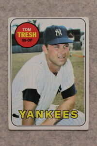 1969 Topps #212 TOM TRESH NEW YORK YANKEES - Vintage Baseball Card