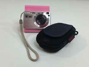 Sony Cyber-Shot DSC-W120 7.2MP Silver Digital Camera + Case