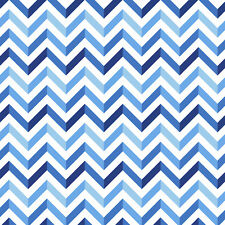 Chevron Blue & Silver Anti-Pill Fleece Fabric By The Yard