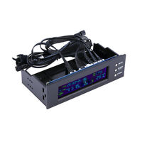 5.25 inch PC Fan Speed Controller Temperature Display LCD Front Panel F7