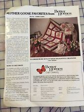 "Mother Goose 12"" Fabric Squares Panel Better Homes & Gardens  Quilt - Pillow Kit"