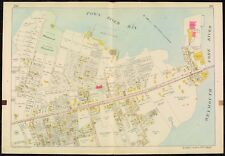 1907 QUINCY PT. BRIDGE NORFOLK COUNTY MASSACHUSETTS WASHINGTON SCHOOL ATLAS MAP