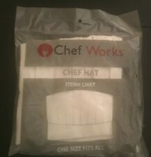 NEW Chef Works - Unisex Adult Chef Hat Apparel - White NEW NWT