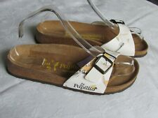NEW Papillio By Birkenstock Ladies Maritime White Mules Sandals UK Size 5 EU 38