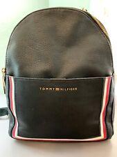 WOMEN'S TOMMY HILFIGER FAUX LEATHER BLACK BACKPACK-PURSE-BAG