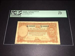 PCGS Currency Graded Australia-Commonwealth Bank 10 Shillings ND (1939) P25a