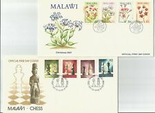 Malawi        1987 Christmas  +  1988 Chess        FDC       First Day Cover x 2