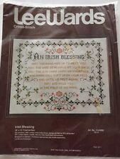 "Vintage Leewards Cross Stitch Kit An Irish Blessing #14-64080 20"" x 16"" SEALED"
