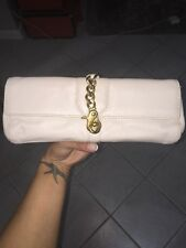 juicy couture 100% Leather clutch Off White