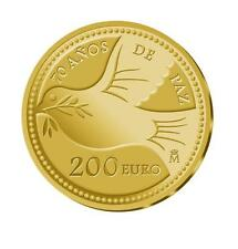 ESPAÑA: 200 euros oro 2015 proof 70 años  PAZ en Europa REY FELIPE VI Spain Gold