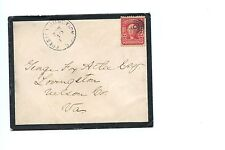 US Cover 1904 Trenton Junction, NJ to Lovingston, Va with light backstamp
