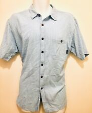Patagonia Men Organic Cotton Baby Blue Short Sleeves  Button Shirt Xlg
