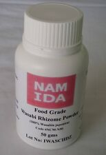 1 Jar 50g Namida 100% Pure Water Grown Wasabia japonica (Wasabi) Rhizome powder